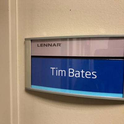Lennar Name Plaque